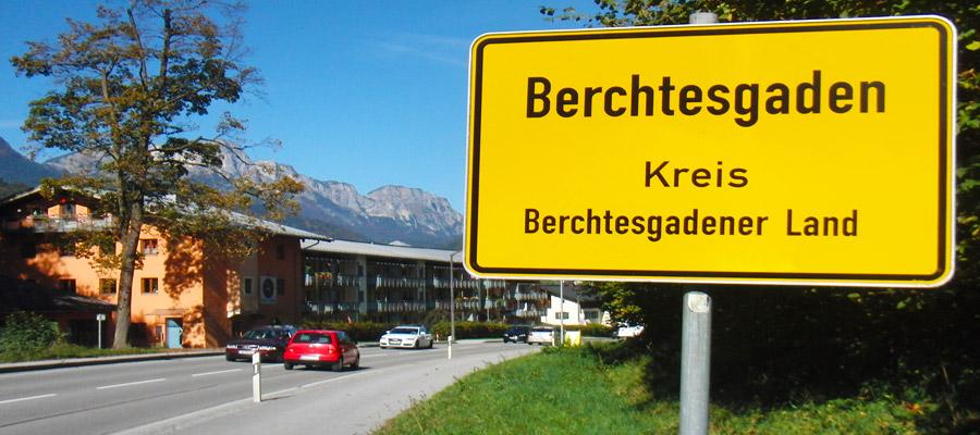 Berchtesgaden city limits sign