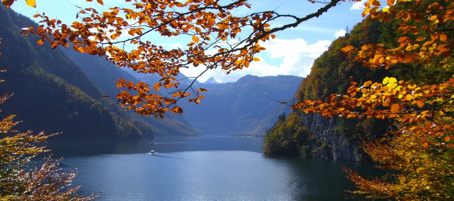 Idyllic waters of Lake Konigssee
