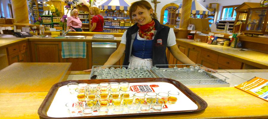 Taste test the Enzianbrennerei
