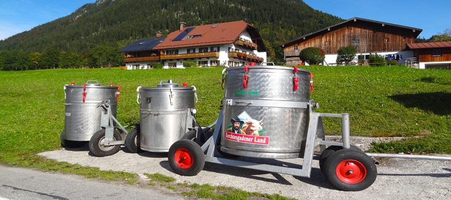 Farmer's milk in Berchtesgadener Land