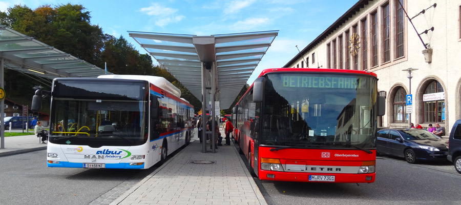 Buses to Salzburg and Obersalzberg