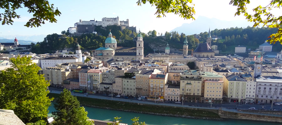 View of Salzburg from New Town
