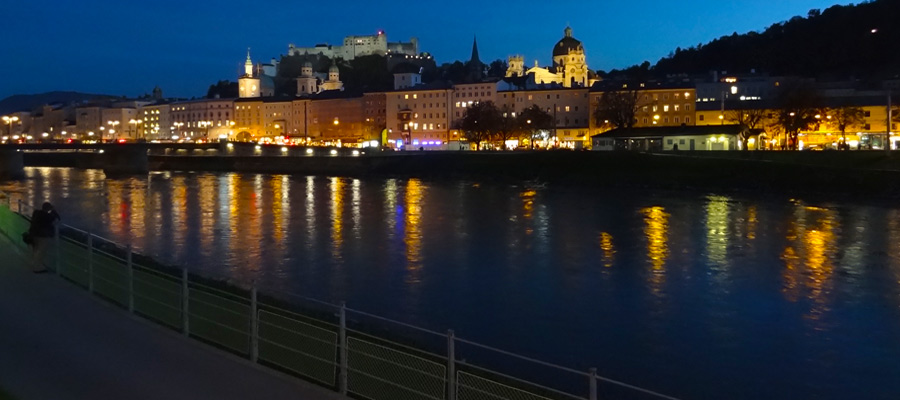 Salzburg by night, irresistibly romantic