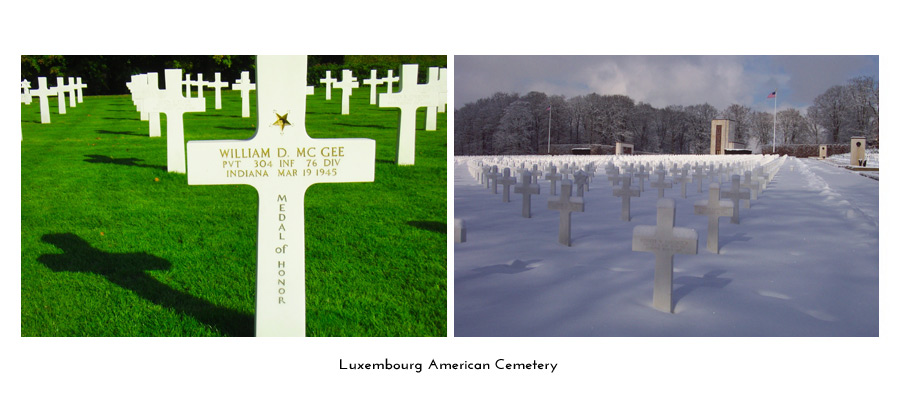 Luxembourg American Cemetery winter
